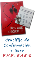 PACK CONFIRMACIÓN: CRUCIFIJO + LIBRO